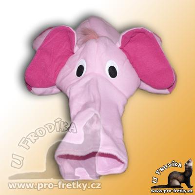 Pelíšek - prolézačka - růžový slon