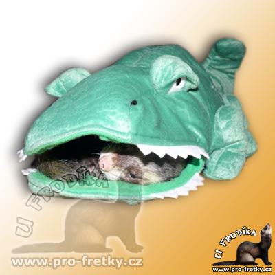 Krokodýl Ali od Marshall - zábavná hračka i odpočivadlo pro FRETKY