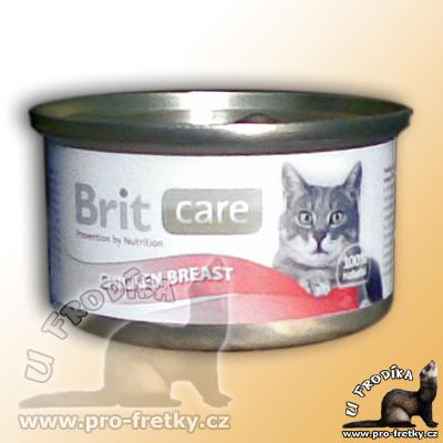 konzerva Brit Care pro kočky z kuřecích prs